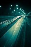 Nachtdatenbahn Stockfotos