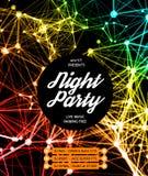 Nachtdisco-Partei-Plakat-Hintergrund vektor abbildung