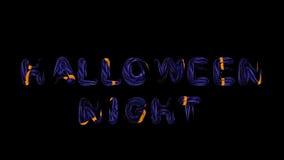 Nachtdunkelblaue Buchstaben mit orange Krisenherden heiligend, zerreißen 3d Lizenzfreie Stockfotos