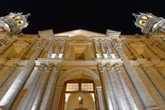 Nachtelijke kathedraal Royalty-vrije Stock Fotografie