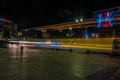 Nachten in Boekarest royalty-vrije stock afbeeldingen