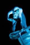 Nachtfestival: Wasser-Tanz Stockfotos