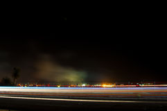 Nachtflugschau stockfoto