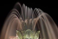 Nachtfontein Royalty-vrije Stock Afbeeldingen