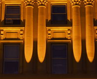 Nachtfoto Alberta Legislative Buildings Stockfotos