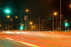 Nachtfoto van Meechok-Verbinding Stock Afbeeldingen