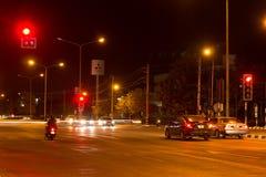 Nachtfoto van Meechok-Verbinding Royalty-vrije Stock Afbeeldingen