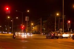 Nachtfoto van Meechok-Verbinding Stock Foto's