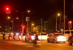 Nachtfoto van Meechok-Verbinding Stock Foto