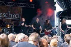 Nachtgeschrei. German RockBand Nachgeschrei at Burgfolk 2008 Festival on 2008/08/16, OpenAir Rock and Folk Festival in Muelheim, Germany stock photography
