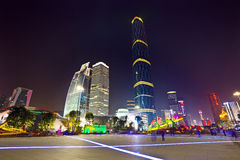 Nachtguangzhou-Stadt Lizenzfreies Stockbild