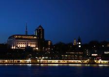 Nachthafen Stockbild