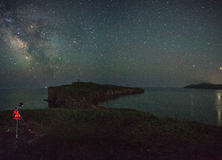 Nachthemel boven Tobizina-kaap Stock Foto