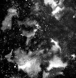 Nachthemel met de illustratie van de sterreninkt vector illustratie