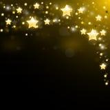 Nachthemel met fonkelende sterren wordt beslagen die vector illustratie