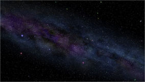 Nachthemel met sterren Royalty-vrije Stock Foto