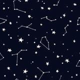 Nachthemel met Sterren en Constellatie Stock Afbeelding