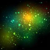 Nachthemel met sterren en nevel Stock Afbeelding