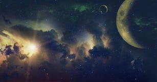 Nachthemel met veel Sterren Royalty-vrije Stock Foto's