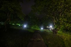 Nachthemel over landelijk landschap Mooie nacht sterrige hemel, Azerbeidzjan stock foto's