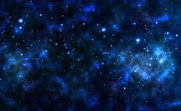 Nachthemel, sterren stock afbeelding