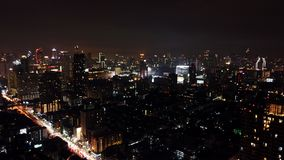 Nachthemel van Bangkok Royalty-vrije Stock Foto's