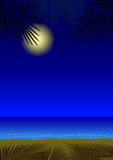 Nachtherrliche Sommerferien auf dem Strand Stockfotos