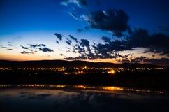 Nachthintergrund Stockfotos