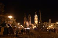 Nachthistorische Stadt Lizenzfreie Stockbilder