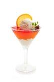 Nachtisch der Eiscreme und des Fruchtgelees Lizenzfreies Stockfoto