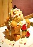 Nachtisch des französischen Toasts Stockfoto