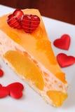 Nachtisch des Valentinsgrußes Stockfotografie
