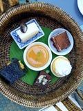Nachtisch in einer thailändischen Arteinstellung Lizenzfreies Stockfoto