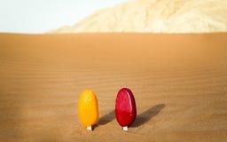 Nachtisch in einer Wüste Lizenzfreie Stockfotos