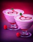 Nachtisch für Valentinstag Stockfoto