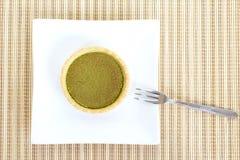 Nachtisch-grüner Tee-Törtchen Stockfoto