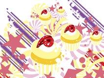 Nachtisch-kleine Kuchen lizenzfreie abbildung