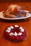 Nachtisch mit der Türkei Stockfotografie