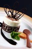 Nachtisch mit Schokolade stockfotografie