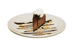 Nachtisch - Schokoladencreme-Käsekuchen Lizenzfreie Stockfotos