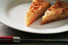 Nachtisch Selbst gemachter Apfelkuchen Stockbild