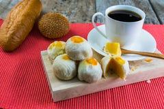 Nachtisch und Kaffee Stockbild