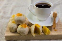 Nachtisch und Kaffee Stockfoto
