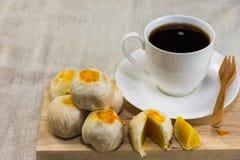 Nachtisch und Kaffee Stockfotografie