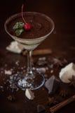 Nachtisch von der unterschiedlichen Art der Schokolade Stockfotografie