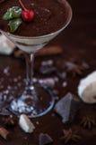 Nachtisch von der unterschiedlichen Art der Schokolade Lizenzfreie Stockfotografie