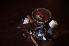 Nachtisch von der unterschiedlichen Art der Schokolade Lizenzfreie Stockfotos