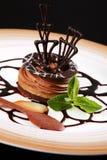 Nachtischschokoladenkuchen lizenzfreies stockfoto