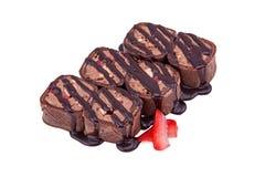 Nachtischsushischokolade Stockfotos