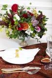 Nachtischtabelle für eine Hochzeit Stockfoto